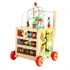 Antepremergator 6 in 1 cu activitati educative, lemn