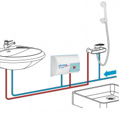 Boiler instantaneu GEYSER NEW In-line, dus si chiuveta, Instant