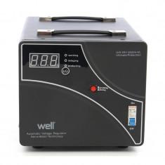 Stabilizator de tensiune cu servomotor Well, 3000 VA - Stabilizator tensiune