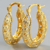 cercei placati cu aur de 18 k
