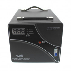 Stabilizator de tensiune cu servomotor Well, 5000 VA - Stabilizator tensiune