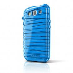 Carcasa RubberBand Samsung Galaxy S3 Musubo, Albastru