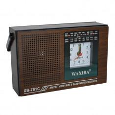 Radio cu ceas Waxiba XB-781C, 5 benzi - Aparat radio