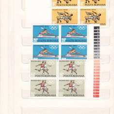 PREOLIMPIADA MUNCHEN ( LP 787 ) 1972 BLOC DE 4 - Timbru Romania dupa 1900, Nestampilat