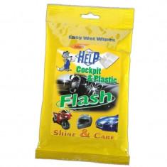 Lavete umede pentru suprafete din plastic Help, 10 bucati - Laveta Auto