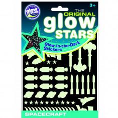 Stickere Navete spatiale fosforescente, Glowstars Company