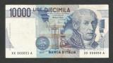 ITALIA  10000 10.000 LIRE 1984 ( 1997 ) [3] P-112d  , XF  Semn  Fazio Amici