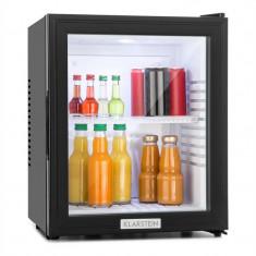 Klarstein MKS-12, 24 l, neagră, minibar, mini frigider, ușă de sticlă, frigider de cameră, clasa de energie A, A, Numar usi: 1, Negru, Sub 85 cm