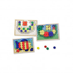Mozaic din lemn cu culori - Jocuri Forme si culori