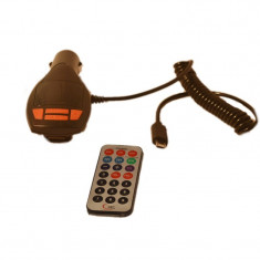 Modulator FM cu functie incarcare telefon - Modulator FM auto