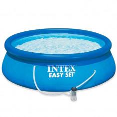 Piscina Easy Set Intex, 305 x 76 cm, pompa filtrare apa inclusa