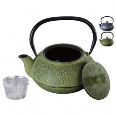 Ceainic fonta cu sita Peterhof PH-15624, 0.9 l, negru
