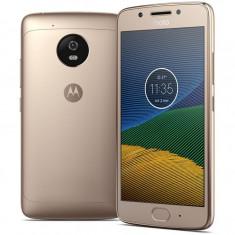 Smartphone Motorola Moto G5 Dual Sim, 5 Inch, Octa Core, 2 GB RAM, 16 GB, Retea 4G, Android Nougat, Gold - Telefon Motorola