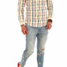 Camasa carouri - camasa barbati - camasa slim - camasa fashion - cod 8791, Marime: S, M, L, XL, XXL, Culoare: Din imagine, Maneca lunga