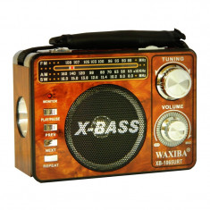Radio portabil Waxiba XB-1065URT, suport card SD/USB