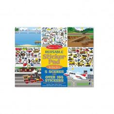 Abtibilduri reutilizabile vehicule - Jocuri Forme si culori