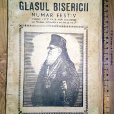 CARTE GLASUL BISERICII - OCT 1945 - NUMAR FESTIV INCHINAT P S NICODIM