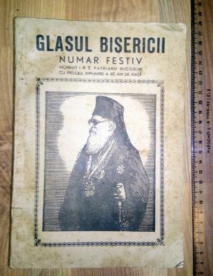 CARTE GLASUL BISERICII - OCT 1945 - NUMAR FESTIV INCHINAT P S NICODIM foto