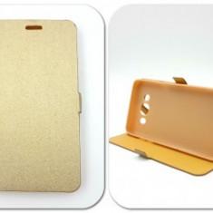 Husa FlipCover Stand Magnet HTC Desire 650 GOLD - Husa Telefon HTC, Plastic, Cu clapeta