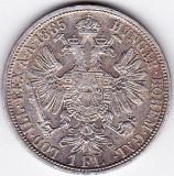 1 Florin Forint Gulden 1885 Austria Ungaria argint 12,3 gr.  VF/XF, Europa