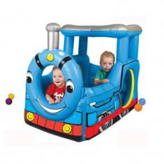 Loc de joaca trenulet, gonflabil, echipat cu 50 bile - Spatiu de joaca