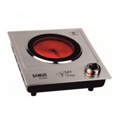 Plita electrica Samus PX201C, 1200 W, 1 arzator, Inox