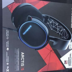 CASTI GAMING STEELSERIES ARCTIS 5 BLACK / NEGRU SIGILATE !! GARANTIE 2 ANI - Casca PC Steelseries, Casti cu microfon, USB