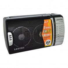Radio portabil Leotec LT-LW9, 5 benzi, control bass - Aparat radio