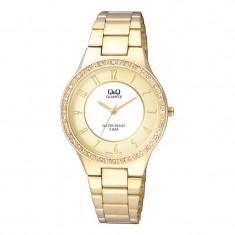 Ceas dama Q&Q Elegant Gold, catarama tip push-up, Quartz, Analog