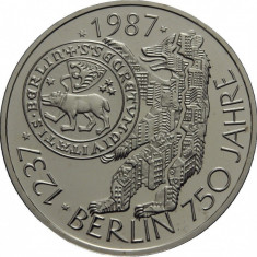Germania - 10 Marci 1987 - J - 15.5 Gr - Argint .625 - Proof - BERLIN 750 ANI, Europa
