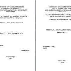 LUCRARE DE LICENTA AMF – MEDICATIA CIRCULATIEI CEREBRALE SI PERIFERICE