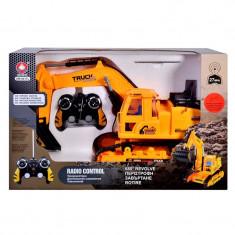 Excavator Super Truck, sunete reale, telecomanda - Vehicul