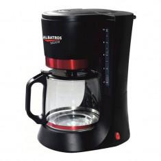 Filtru de cafea Delicia Albatros, 10 cesti, 680 W, Negru/Rosu - Cafetiera