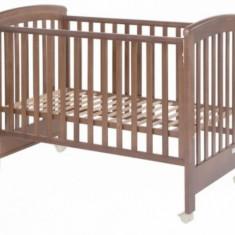 Sertar universal pe roti Walnut Treppy - Patut lemn pentru bebelusi Treppy, Maro