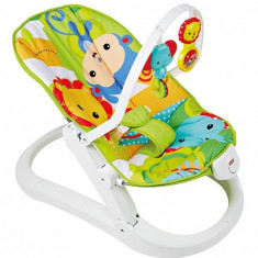 Balansoar portabil si distractiv Rainforest Friends Fisher Price - Balansoar interior Fisher Price, Multicolor