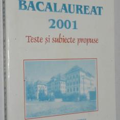 Teste si subiecte propuse Bacalaureat 2001 Matematica - Teste Bacalaureat