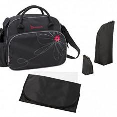 Geanta pentru scutece Vintage Black/Pink Badabulle