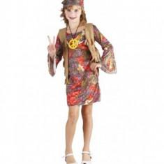 Costum Hippie Girl 4-6 ani EuroCarnavales, Multicolor
