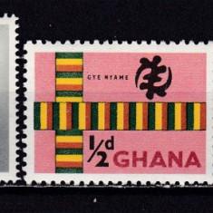 Ghana 1961 fauna simboluri nationale MI 97-99 MNH w45 - Timbre straine, Nestampilat