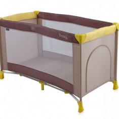 Patut pliant Penny 1 nivel 120 x 60 cm Beige & Yellow Lorelli - Patut pliant bebelusi