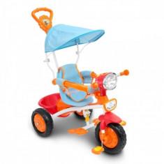 Tricicleta cu maner muzica si lumini Piccino Piccio - Tricicleta copii, Multicolor