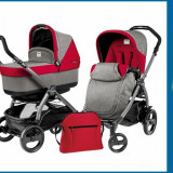 Pachet Promo Carucior 3 in 1 Book Plus 51 Black Pop-Up + Baza Isofix Gratuit Tulip Peg Perego - Set mobila copii