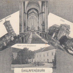 ALBA IULIA CIRCULATA 1910 - Carte Postala Transilvania pana la 1904, Printata