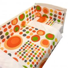 Set aparatori laterale cu imprimeuri pentru patut de 140 x 70 x 60 cm Fantezie Deseda - Lenjerie pat copii