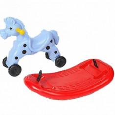 Calut balansoar multifunctional pentru copii Albastru BJ Plastik - Balansoar interior, Plastic