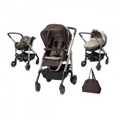 Carucior Trio Loola Excel Earth Brown Bebe Confort - Carucior copii 3 in 1 Bebe Confort, Albastru