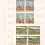 REPRODUCERI DE ARTA I. ANDREESCU ( LP 871 ) 1975 BLOC DE 4 + SERIE, Nestampilat