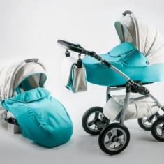 Carucior 3 in 1 Fusion Turquoise Kerttu - Carucior copii 3 in 1