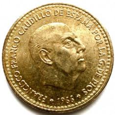 SPANIA, FRANCISCO FRANCO, 1 PESETA 1966, Europa, Bronz