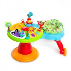 Centru de activitati 3-in-1 Around We Go Zippity Zoo Bright Starts - Tarc de joaca Bright Starts, Multicolor